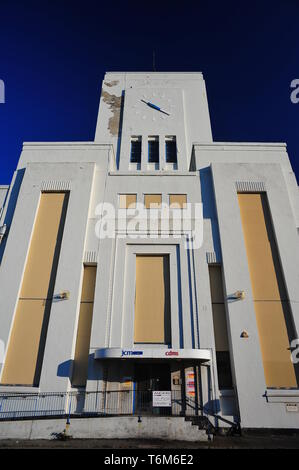 The former Littlewoods Pools building on Edge Lane Liverpool. The Art Deco building was built in 1938 and is to be used by Twickenham film .Studios - Stock Photo