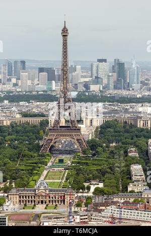 View of Paris with Eiffel Tower from Montparnasse building - Stock Photo