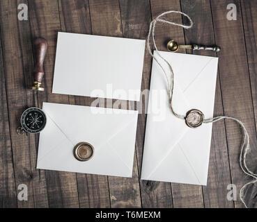 Vintage envelopes - Stock Photo
