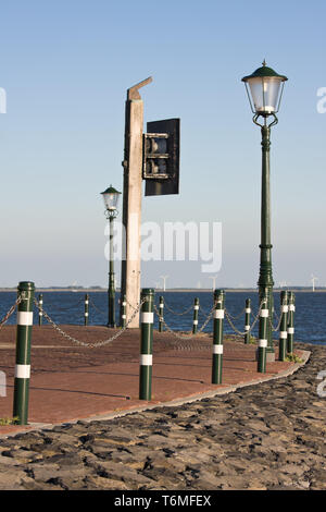 Promenade of Urk, the Netherlands - Stock Photo
