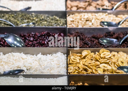 Dried fruits for sale - Stock Photo