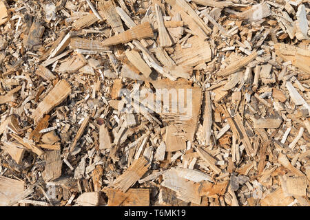 Background of wood chippings - Stock Photo