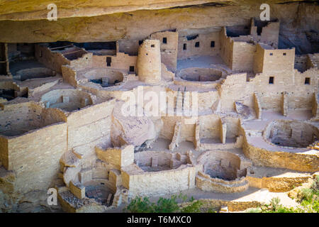 The Cliff Palace in Mesa Verde National Park, Colorado - Stock Photo