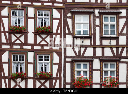 Historic half-timbered houses in  Germany - Stock Photo