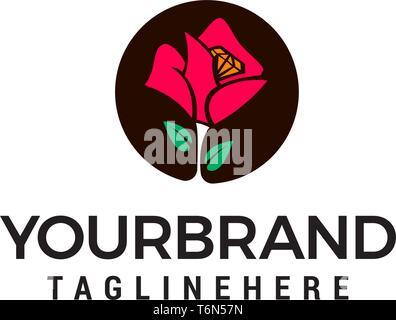 Flower logo design concept template vector - Stock Photo