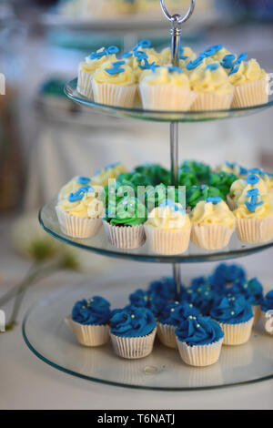close up of the candy table in a wedding reception - Stock Photo