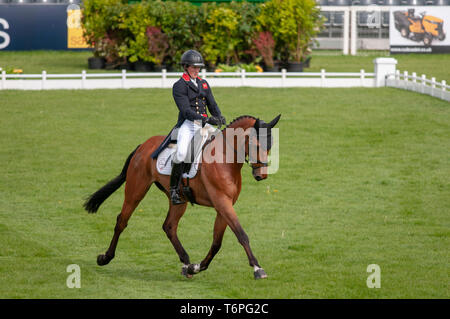 Badminton, Gloucestershire, United Kingdom, 2nd May 2019, Tom McEwen riding Toledo De Kerser during the Dressage Phase of the 2019 Mitsubishi Motors Badminton Horse Trials, Jonathan Clarke/Alamy Live News - Stock Photo