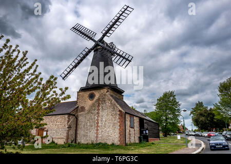 Hove, UK. 2nd May 2019. Unusual polling stations used in the city of Brighton and Hove's Council Elections today:   West Blatchington Windmill Credit: Andrew Hasson/Alamy Live News - Stock Photo