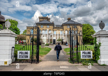 Hove, UK. 2nd May 2019. Unusual polling stations used in the city of Brighton and Hove's Council Elections today:   Hove Museum Credit: Andrew Hasson/Alamy Live News - Stock Photo
