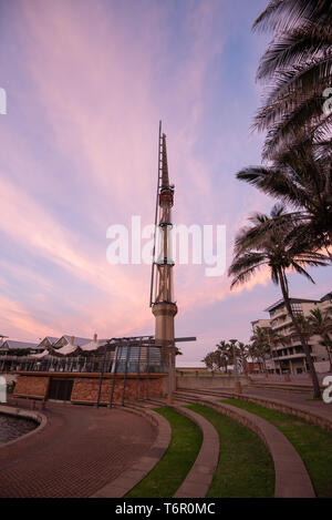 An early morning view from within Durban's Point Waterfront i- an ongoing modern urban regeneration/development project located in the Point, Durban. - Stock Photo