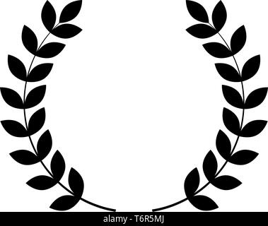 Branch of winner Laurel wreaths Symbol of victory icon black color vector illustration flat style simple image - Stock Photo