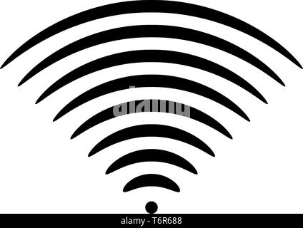 Radio wave Sound signal One dirrection Transmitter icon black color vector illustration flat style simple image - Stock Photo