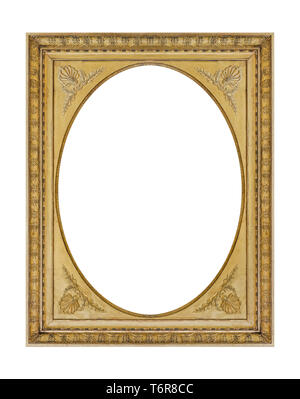 Old wooden picture frame - Stock Photo