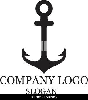 anchor logo and symbol template vector icons app - Stock Photo