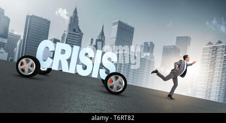Business concept of crisis and recession - Stock Photo