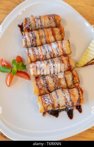 Fried organic banana - Stock Photo