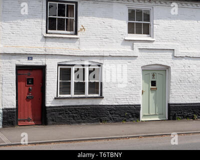 House frontages in West Street, Wilton, Salisbury, Wiltshire, UK. - Stock Photo