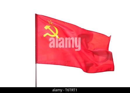 Soviet Union, Ussr flag isolated on white background - Stock Photo