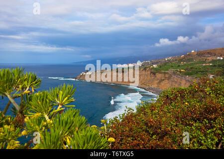Beach in Puerto de la Cruz - Tenerife island (Canary) - Stock Photo