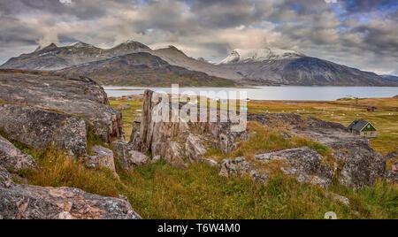 Igaliku ancient Norse ruins at Gardar, South Greenland