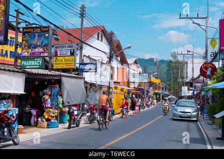 Rim Hat Road, Kamala, Phuket island, Thailand - Stock Photo