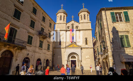 Orthodox Church of St Nicholas in Kotor, Montenegro - Stock Photo
