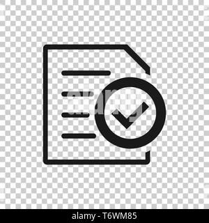inspected check mark  vector illustration isolated on white