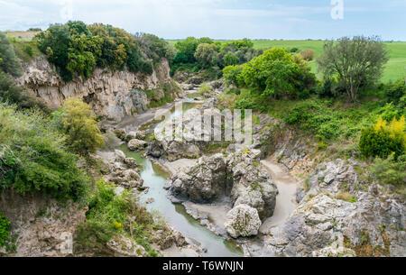 Scenic landscape in Vulci, in the Province of Viterbo, Lazio, central Italy. - Stock Photo