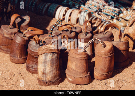 traditional souvenirs from himba peoples, Africa - Stock Photo