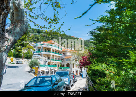 This is a capture of Der El Kamar a village Located in Lebanon, where you can see the traditional architecture of the houses with orange roof tiles an