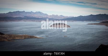 scenes at lake mead nevada arizona stateline - Stock Photo