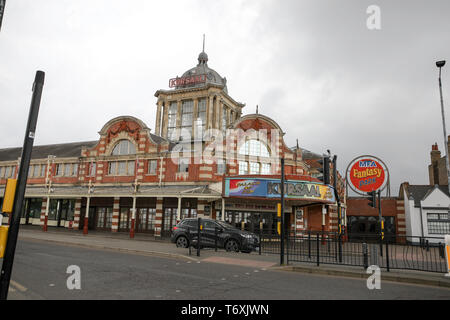 Southend on Sea, Essex, UK. 3rd May, 2019. A small group of squatters have taken over Southends Kursaal building. A spokesman for the group, a man who gave his name as Welsh Darren Davies, said 'We are here in this building because this deserves to be Southend's museum. Not a £60 million project further down the line'. Credit: Penelope Barritt/Alamy Live News - Stock Photo