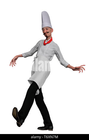 chef in a white background. This alien will put some fun in yours creations - Stock Photo