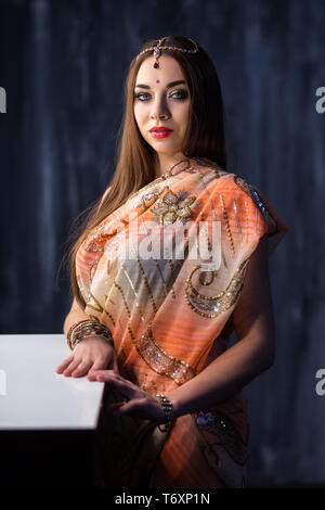Portrait of elegant Indian woman - Stock Photo