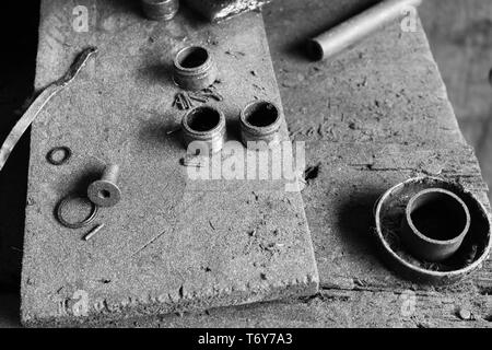 old screws and nuts - Stock Photo