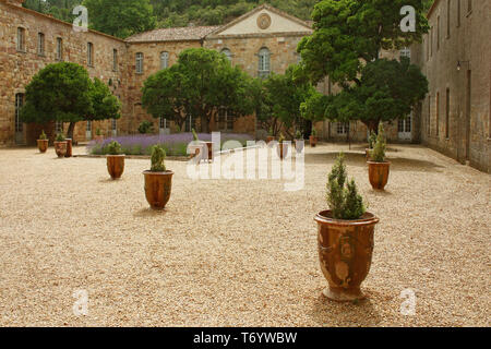 Abbey Fontfroide Narbonne - Stock Photo