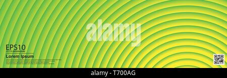 The abstract colorful gradient UFO Green color circle background. - Stock Photo