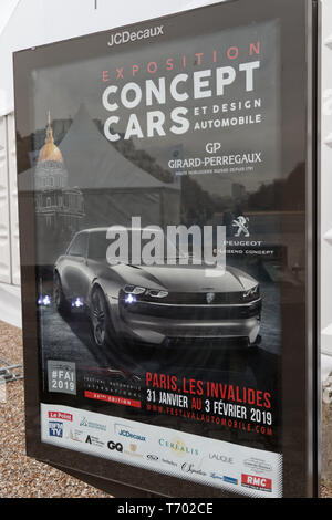 Paris,France.31st Jan, 2019.The poster of the 34th International Automobile Festival.Credit:Veronique Phitoussi/Alamy Stock Photo - Stock Photo