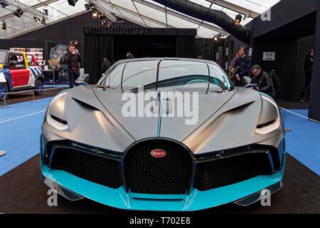 Paris, France. 31st Jan, 2019. Bugatti Divo at the 34th International Automobile Festival. Credit:Veronique Phitoussi/Alamy Stock Photo - Stock Photo