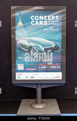 Paris, France. 31st Jan, 2019.The poster of the 34th International Automobile Festival.Credit:Veronique Phitoussi/Alamy Stock Photo - Stock Photo