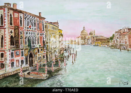 Venice, view from the ponte dell´accademia - Stock Photo