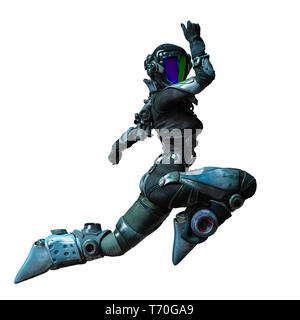 this is the apocalyptic astronaut girl exploring arround. This girl will put some fun in yours creations - Stock Photo