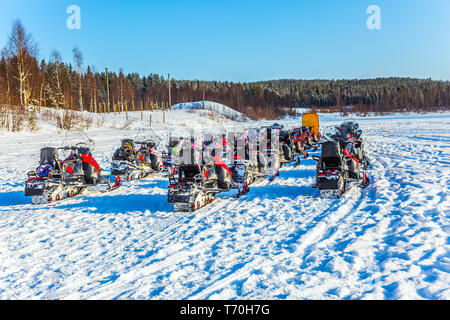 Snowmobiling - Stock Photo