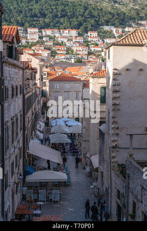 Streets in Dubrovnik Old town - Stock Photo