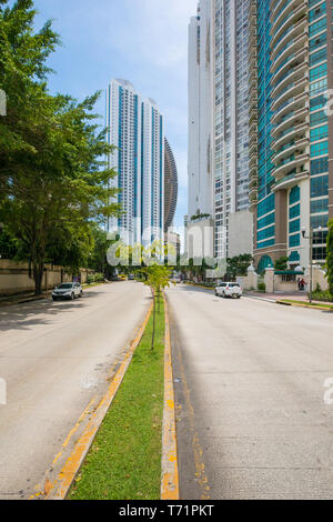 skyscrapers in Punta Paitilla district Panama City - Stock Photo