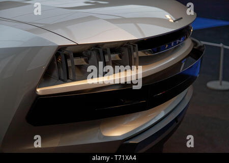Peugeot E-Legend Concept, Grand Prix of the most beautiful concept car at the 34th International Automobile Festival.©: V Phitoussi/Alamy Stock Photo - Stock Photo