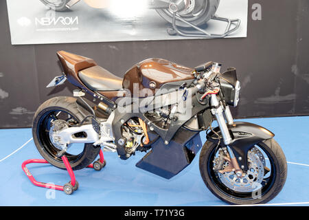 Newron Concept, electric motorcycle at the 34th International Automobile Festival.Credit:Veronique Phitoussi/Alamy Stock Photo - Stock Photo