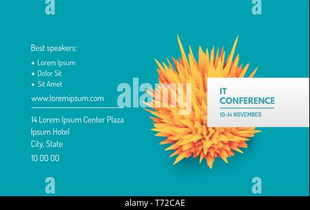 Prickly Ball For Design Project Business Event Invitation