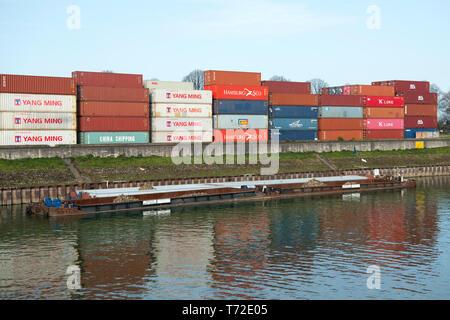 Deutschland, Köln, Niehl, Hafen - Stock Photo