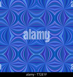 Blue seamless abstract hypnotic swirling ray stripe pattern background - Stock Photo
